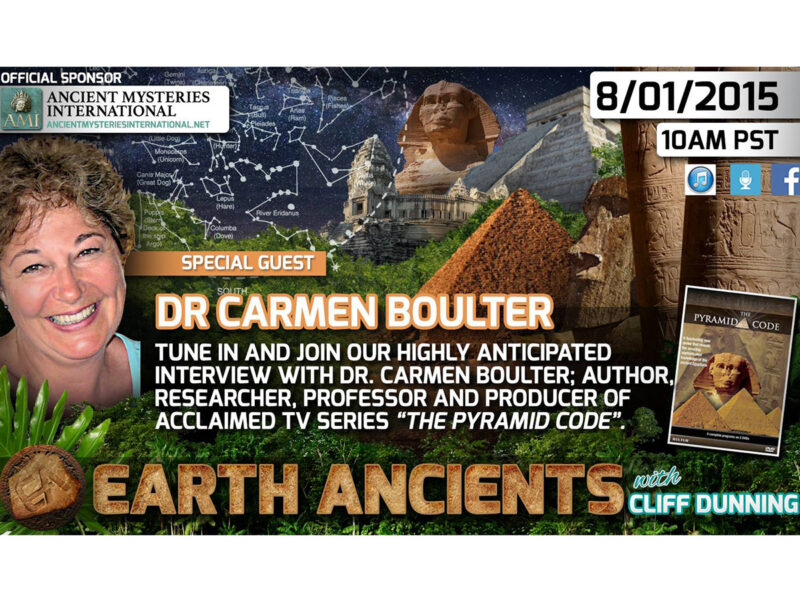Dr. Carmen Boulter: The Pyramid Code, Post Series Discoveries