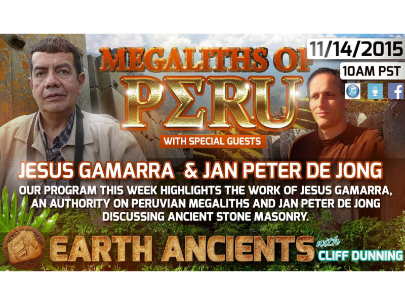 Jesus Gamarra & Jan Peter de Jong: The Megaliths of Peru